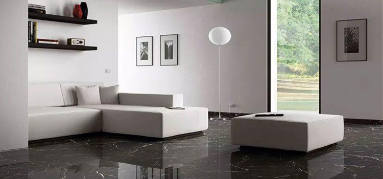 carrelage effet marbre de couleur noir