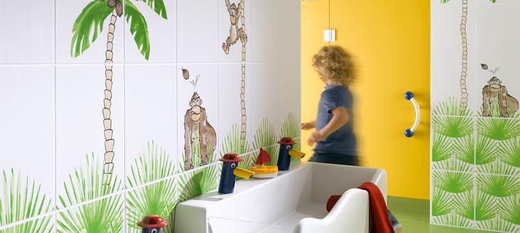 Fa ence de salle de bains pour enfant par steuler blog carrelage for Hauteur carrelage salle de bain
