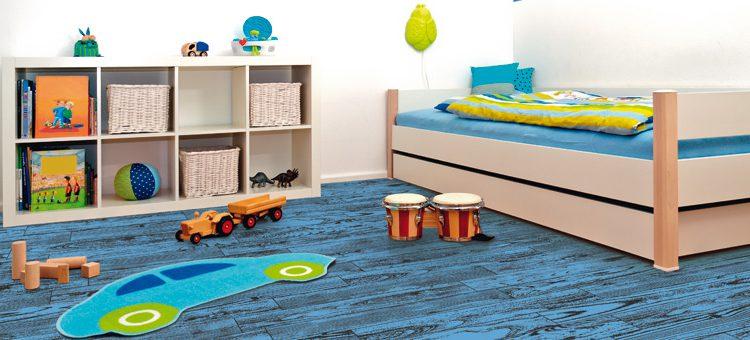 Carrelage imitation parquet couleur bleu