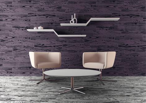 Carrelage imitation parquet couleur blanc et violet