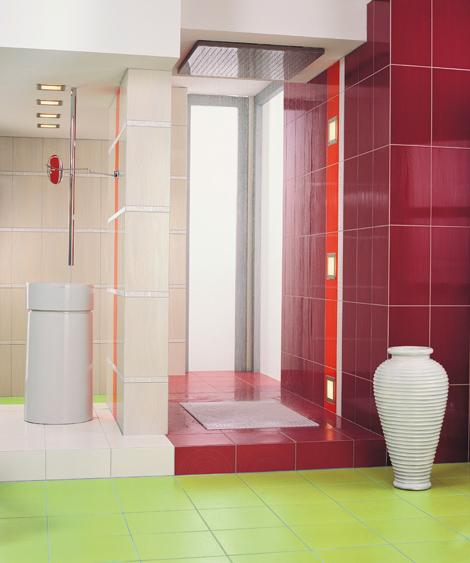 Carrelage et fa ences osez le carrelage couleur blog for Carrelage rouge pour salle de bain