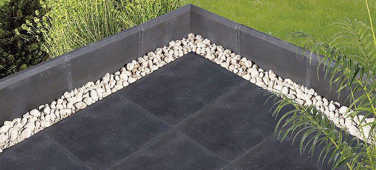 Carrelage effet métal pour terrasse