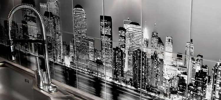 Impression carrelage ville de New York