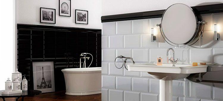 Carrelage m tro dans la salle de bains style garanti for Hauteur carrelage salle de bain