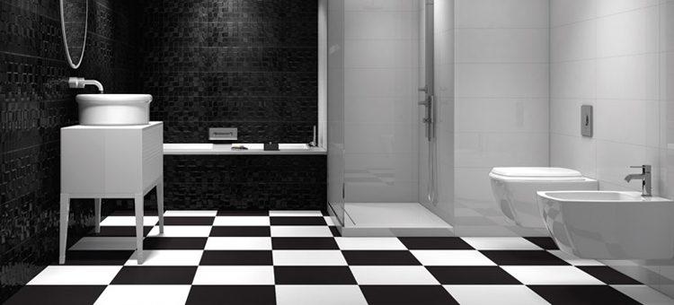 Craquez pour le carrelage noir et blanc blog carrelage - Carrelage metro noir et blanc ...
