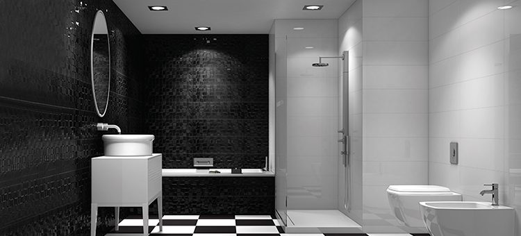 Créez votre salle de bains noire et blanche