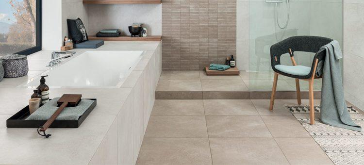 carrelage pour salle de bains zen