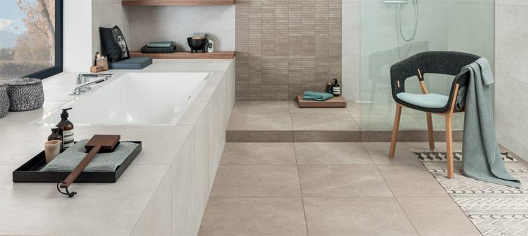 Du carrelage pour une salle de bains zen blog carrelage - Quel couleur pour une salle de bain ...