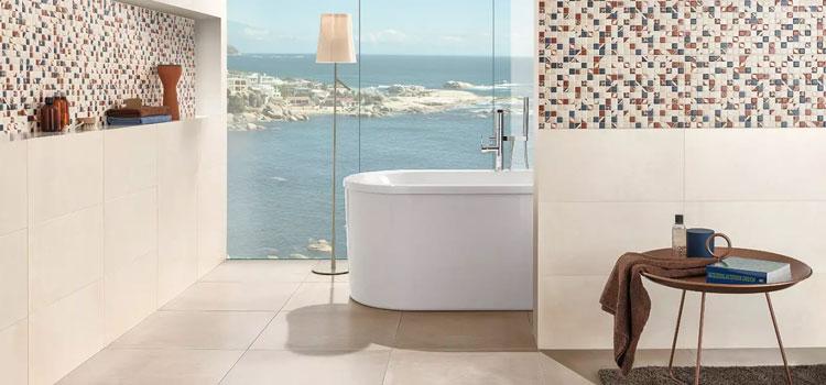 Carrelage grès cérame dans salle de bains