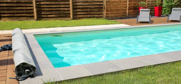 Margelle piscine gris