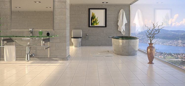 Salle de bains avec Carrelage de Bourgogne