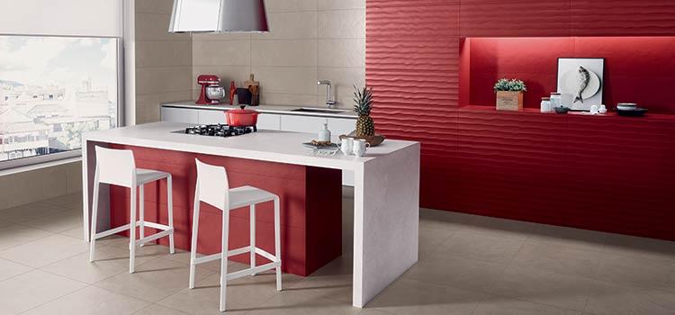 Carrelage mat dans une cuisine