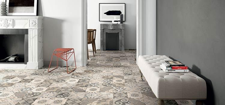 Carrelage azulejo dans un salon