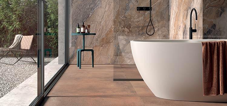 Carrelage intérieur dans une salle de bains