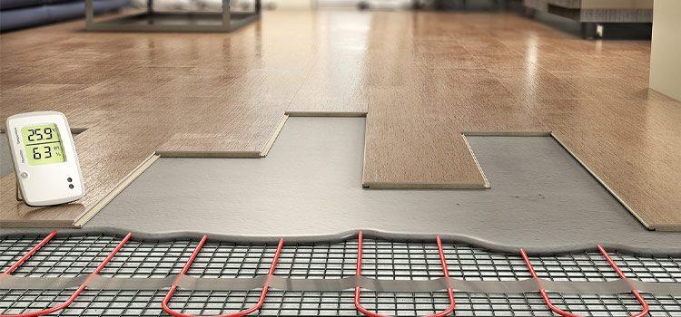 Visuel schématique du plancher chauffant sous le carrelage