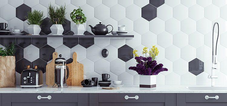 Carrelage hexagonal de cuisine