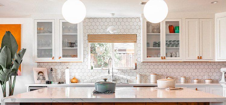 carrelage hexagonal dans la cuisine
