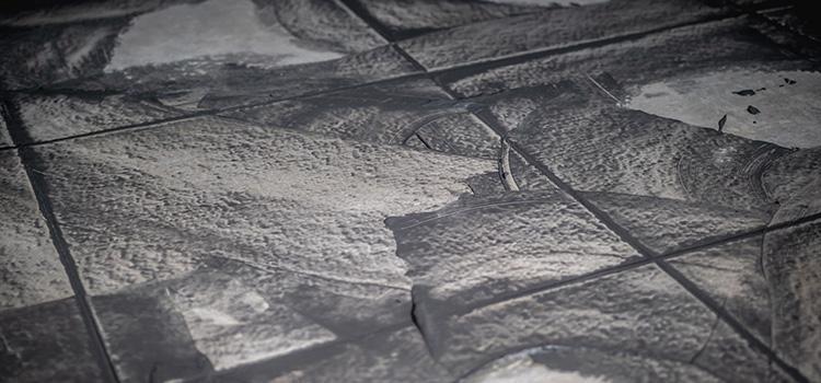 carrelage de couleur gris/noir avec des joints de couleur semblable