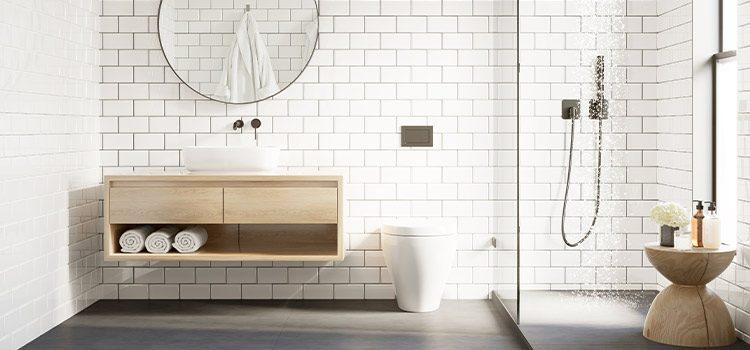 visuel d'ambiance d'une salle de bains avec wc