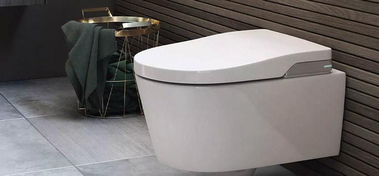 visuel wc suspendu et carrelage de couleur gris