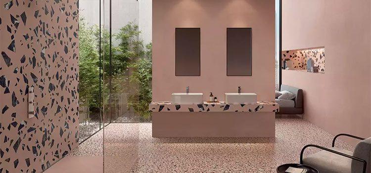 salle de bains avec meuble double vasque