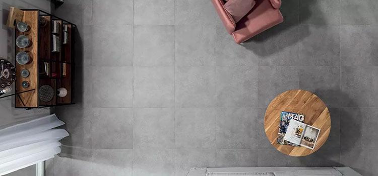 carrelage gris salon