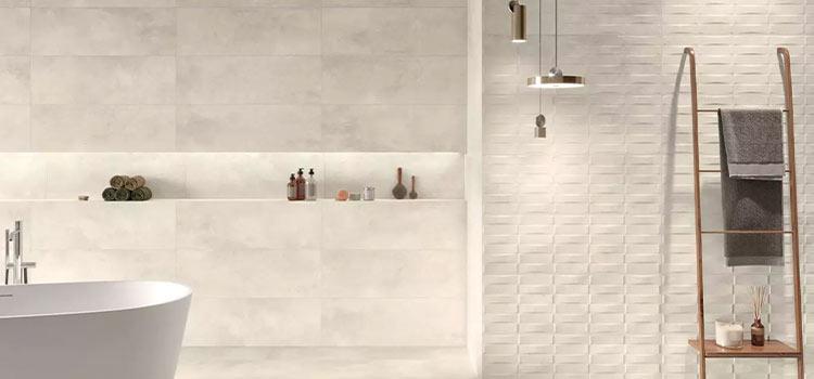 carrelage faience naturelle pour salle de bains