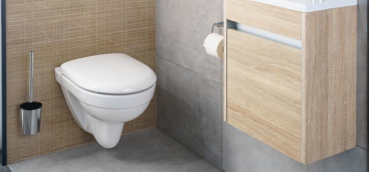 WC suspendu avec meuble suspendu