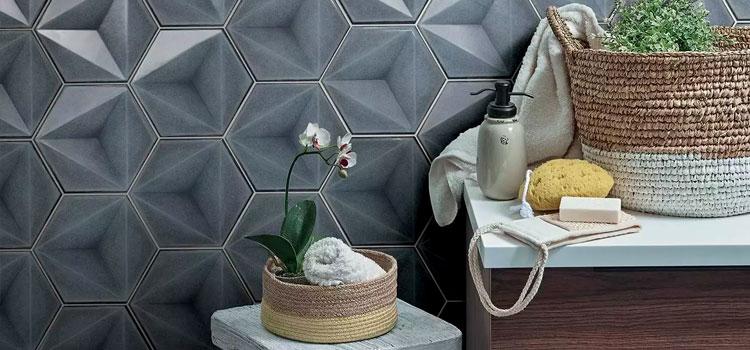 carrelage hexagonal dans la salle de bains